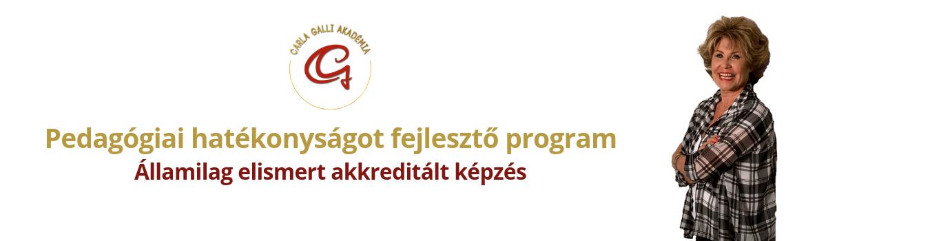 Carla Galli Akadémia pedagógiai hatékonyságot fejlesztő program